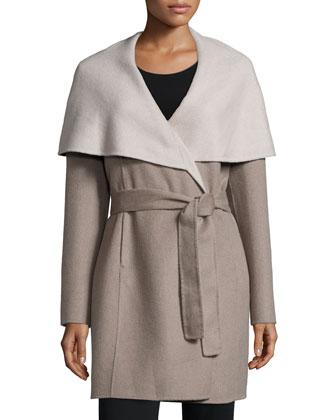 Oversized Collar Wrap Coat