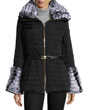 Après-Ski Fur-Collar & Cuff Puffer Jacket