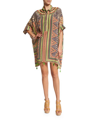 Embroidered Caftan Dress, Multi Colors