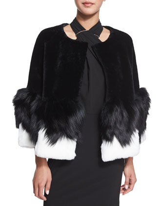 Short Mixed-Fur Jacket