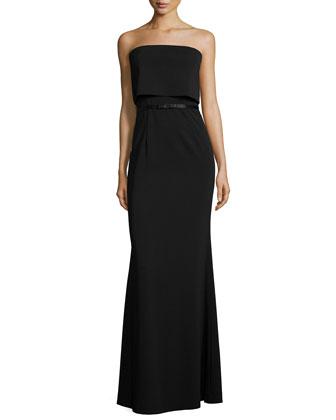 Juliette Strapless Popover Column Gown