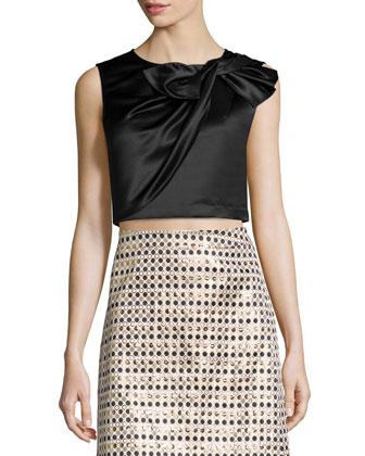Nina Metallic Polka-Dot Skirt
