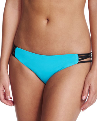 Wild One Reversible Halter Top & Full-Cut Strap-Side Swim Bottom