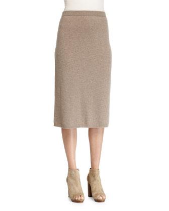 Cashmere Calf-Length Skirt