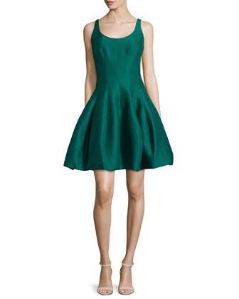 Sleeveless Cocktail Dress W/ Structured Tulip Skirt