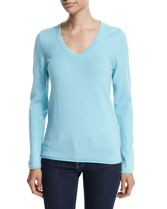 Izabel Puffer Vest & Diana V-Neck Cashmere Sweater