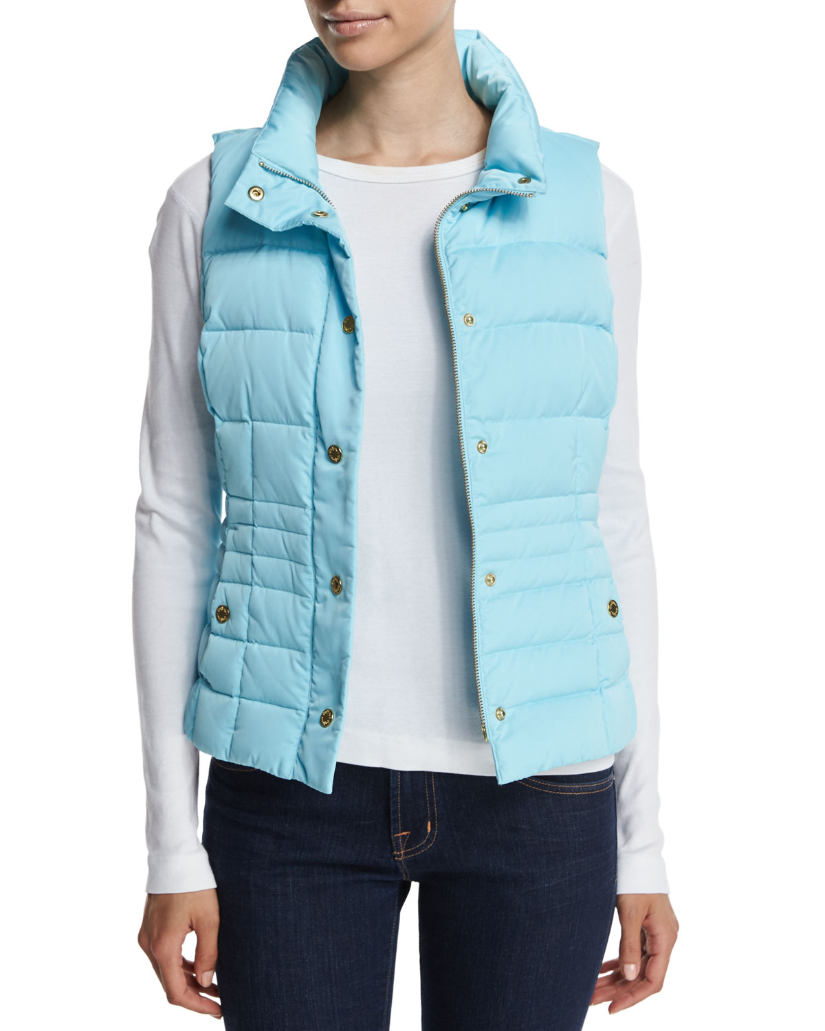 Izabel Puffer Vest, Size: X-LARGE(16), Midnight Navy - Lilly Pulitzer