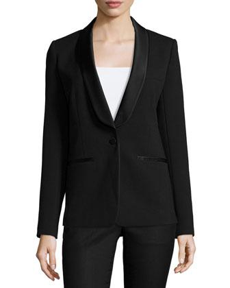 Shawl-Collar Tuxedo Blazer