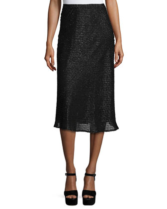 Shimmer Jacquard Circle Skirt