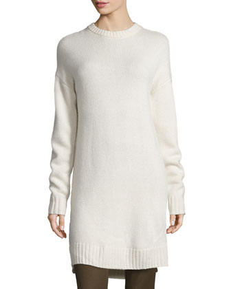 Long Cashmere Tunic, Ecru