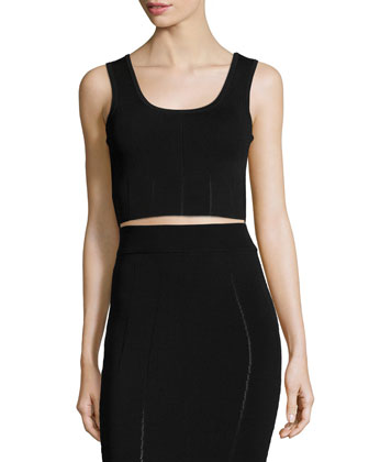 Ergonomic Fashion Bra Crop Top, Black