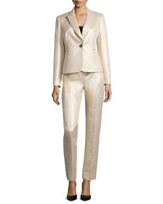 Metallic Jacquard Pant Suit