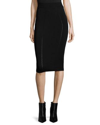 Ergonomic Fashion Pencil Skirt, Black