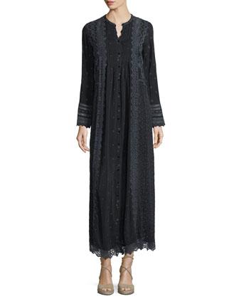 Long-Sleeve Vintage Prairie Maxi Dress