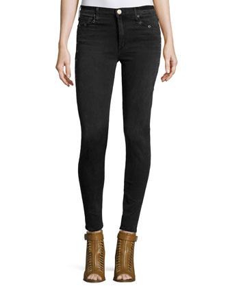 Newton Mid-Rise Skinny Jeans, Angelina (Black)