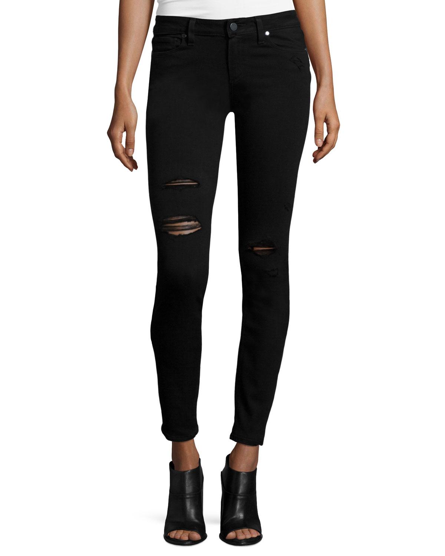 Verdugo Ultra Skinny Jeans, Black, Women's, Size: 30 - Paige Denim