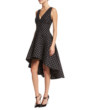 Aria Starlight High-Low Dress, Black