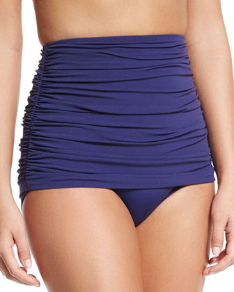 Johnny D Bandeau Swim Top & Bill High-Waisted Shirred Swim Bottom