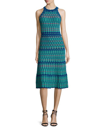 Sleeveless Crochet Dress, Mint