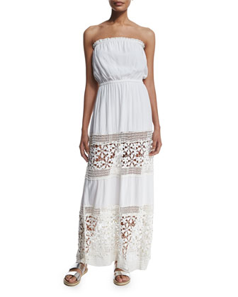 Charlotte Crochet-Panel Maxi Coverup Dress