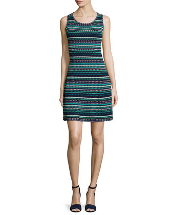Sleeveless Micro-Triangle Dress