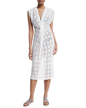 Sundaze Embroidered Lace Coverup Dress