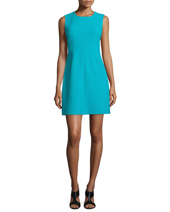 Carrie Sleeveless Sheath Dress, Blue Lagoon