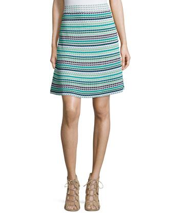 Micro Triangle-Striped Skirt