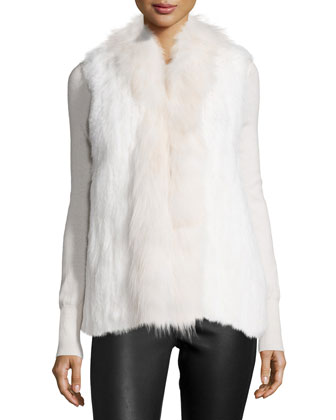 Bianca Fur Vest, Ivory