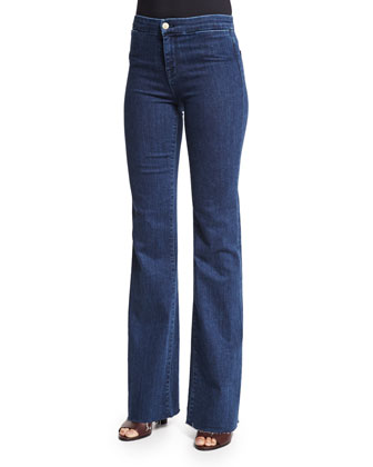High-Rise Tailored Flare-Leg Jeans, Allegiance
