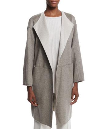 Tailynn Long Cashmere Topper Coat