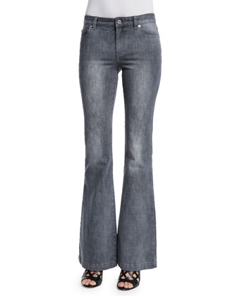 Retro Flared Jeans, Emmanuelle Wash