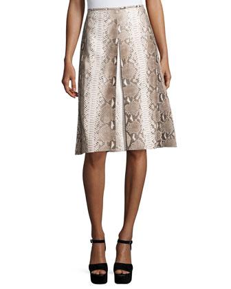 Python A-Line Skirt, Taupe