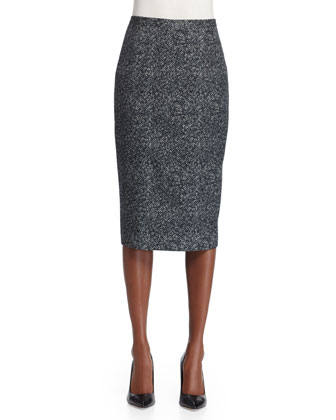 Seamed Pencil Skirt, Slate