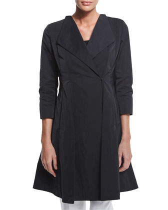 Judith Fit & Flare Topper Coat