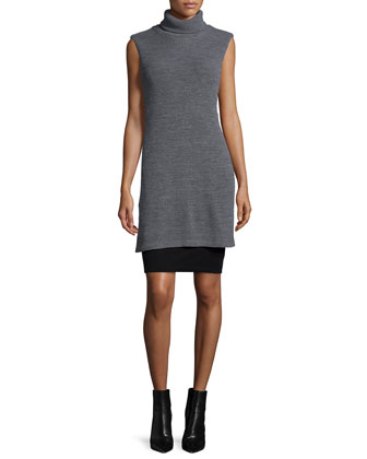 Underground Sleeveless Sheath Dress, Marengo/Black
