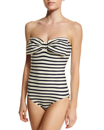 nahant shore striped one-piece swimsuit