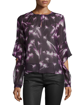 Geremi Long-Sleeve Blouse, Multicolor