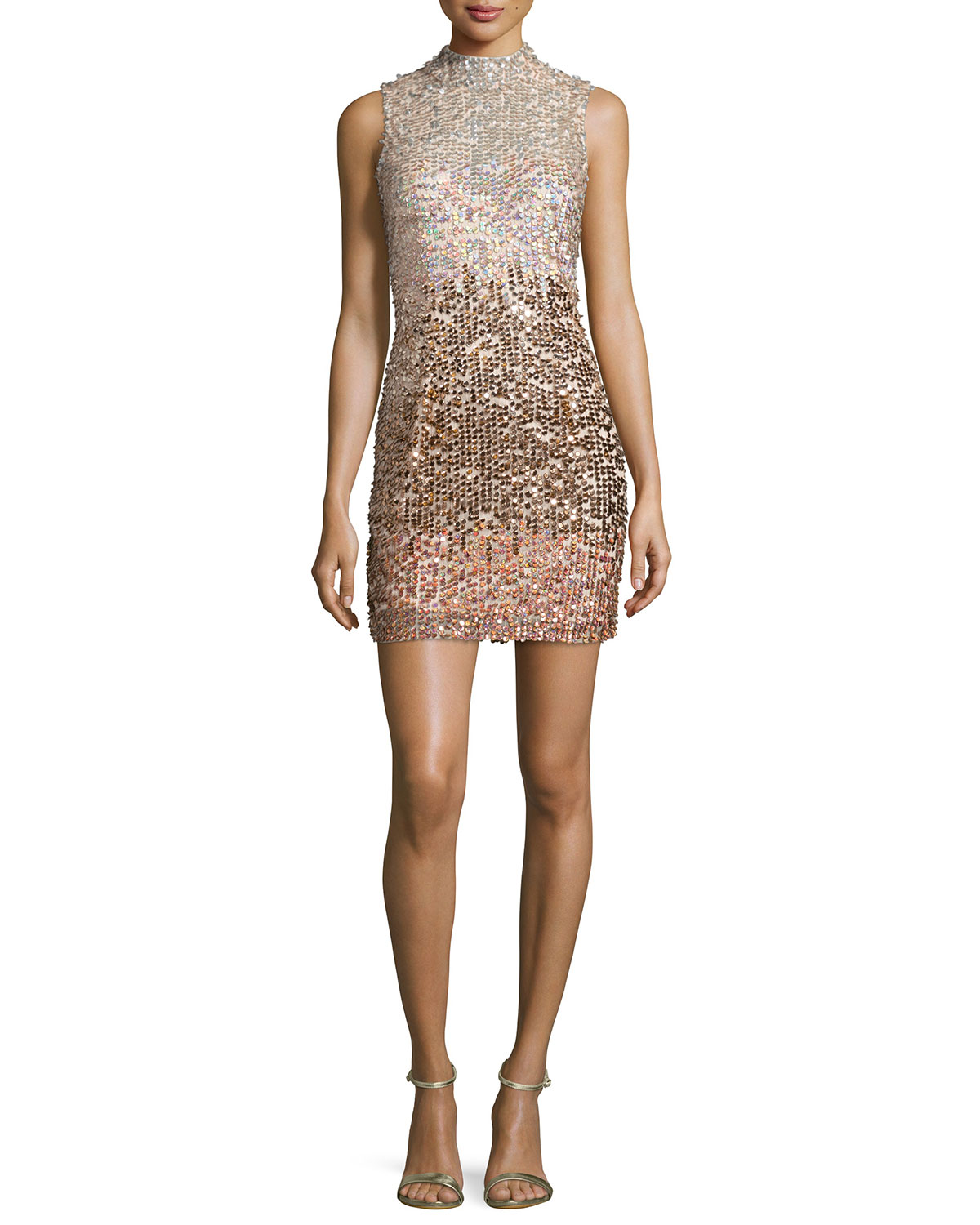 Cosmic Beam Embellished Mini Dress, Bellini, Size: 0, Bellin - French Connection