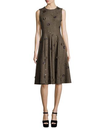 Sleeveless Embellished Dance Dress, Fawn