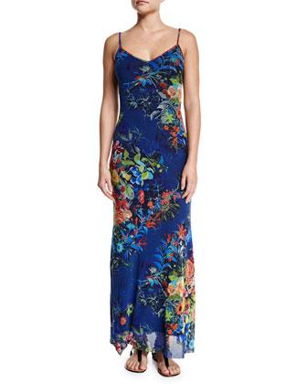Floral-Print Long Maxi Dress