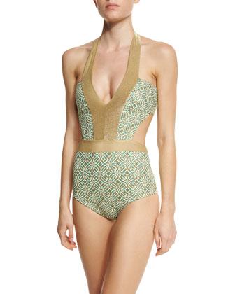 Geoskin Printed One-Piece Swimsuit