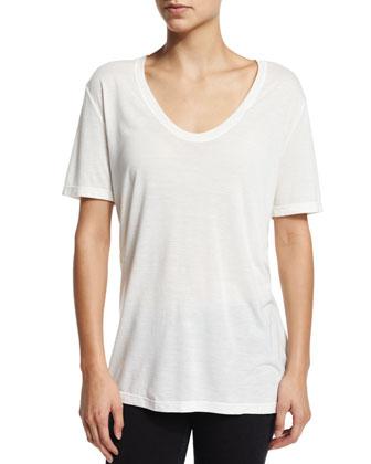 Britney Short Sleeve T-Shirt, Ecru