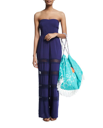 Appleton Sheer-Insert Strapless Jumpsuit