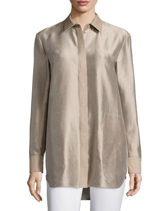 Carlise Long Silk Blouse