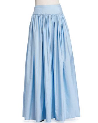 Banded-Waist Hostess Skirt, Ice