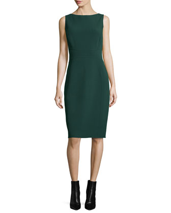 Sleeveless Sheath Dress, Forest