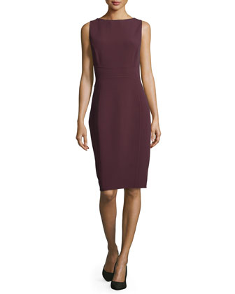 Sleeveless Sheath Dress, Bordeaux