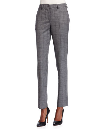 Samantha Glen-Plaid Skinny Pants, Banker Multi