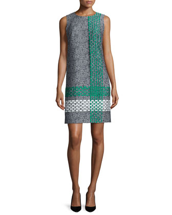Twiggy Jacquard Shift Dress